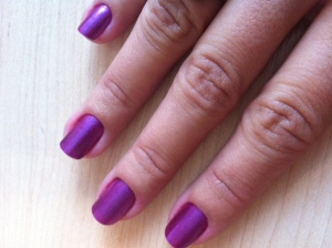 purple  nail varnish