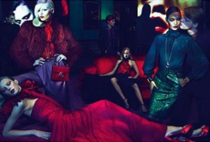 Sigrid Agren, Joan Smalls, Emily Baker and Abbey Lee, with boys Lenz Von Johnston, Anthon Wellsjo, Duco Ferwerda, photographed by Mert & Marcus.