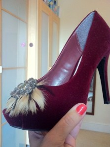 Velvet Mushnik feather trim shoes, very.co.uk
