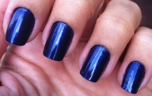 Cobalt blue nails