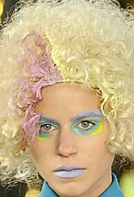 Meadham Kirchhoff's model hair and make up