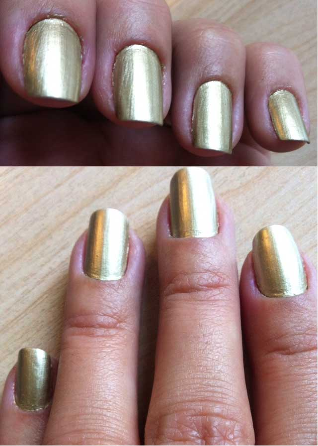 Nails of the week – gold foil   So Many Lovely Things