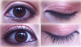 eyes with and without YSL Volume Effet Faux Cils mascara