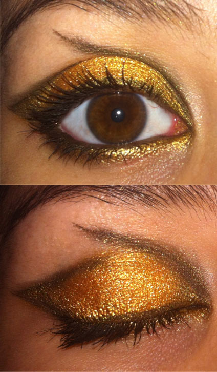 Eye Make Up Look Challenge Black And Gold So Many Lovely Things