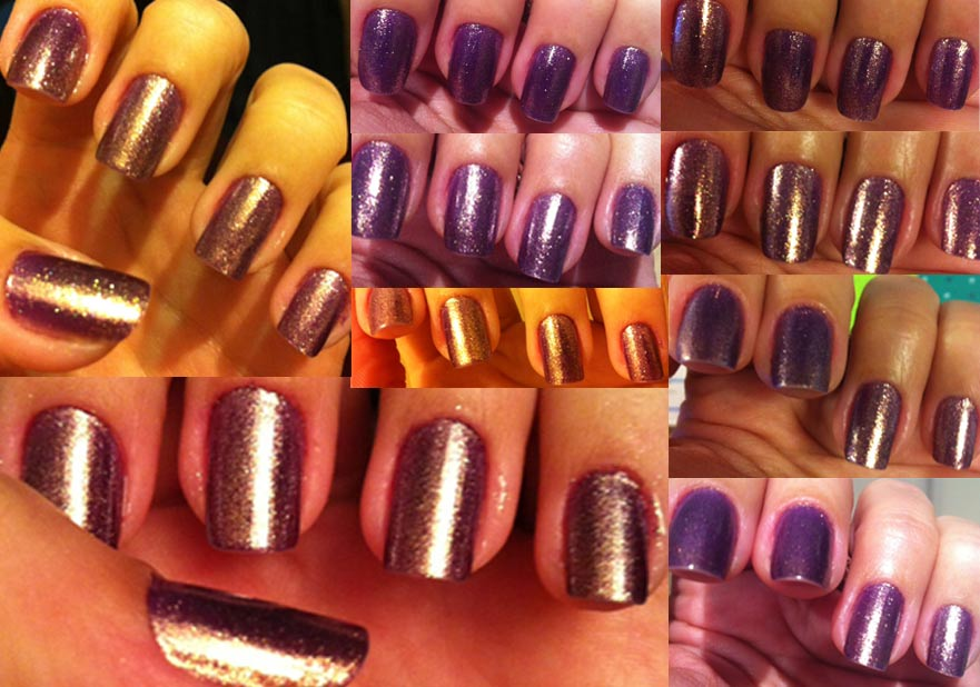 Nails of the week – purple/gold | So Many Lovely Things
