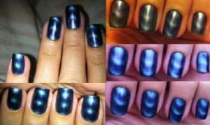 17 Magnetic Nail polish in blue - Dani Dutra