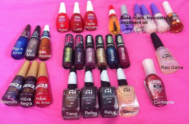 nail polish haul- Brazil - Dani Dutra