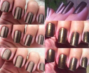 Anna Hickmann in Trend - metallic brown