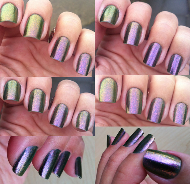 Nails of the week – green/purple duochrome | So Many Lovely Things