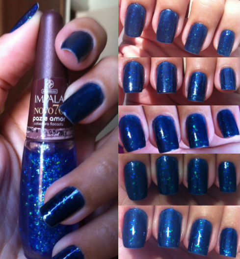 Navy Green Nail Polish: Nails Of The Week – Blue With Glitter Flakes