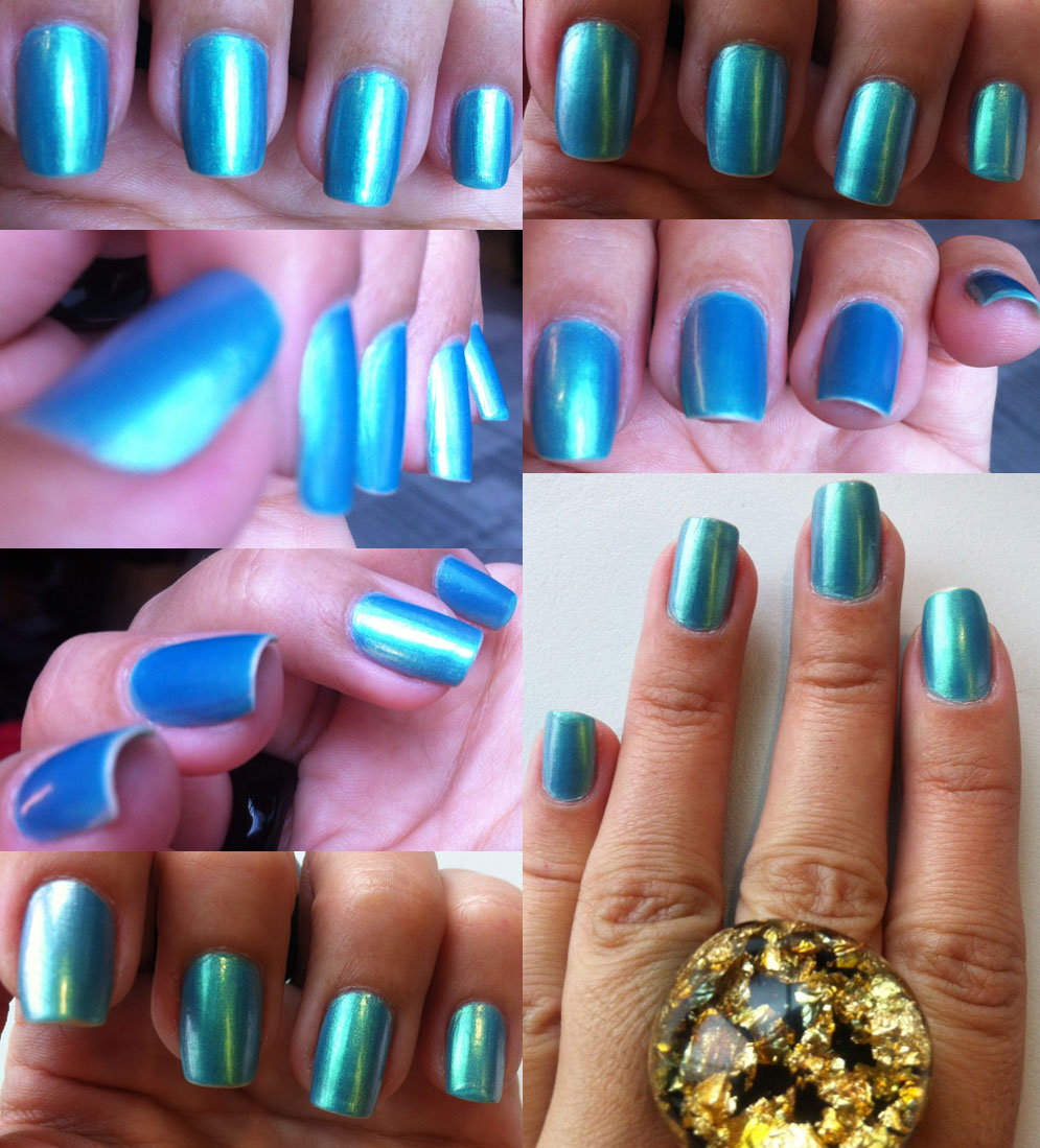 Nails of the week – blue/green duochrome (dazzling blue) | So Many ...
