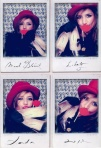 Pictures at Manolo Blahnik's photo booth at Liberty