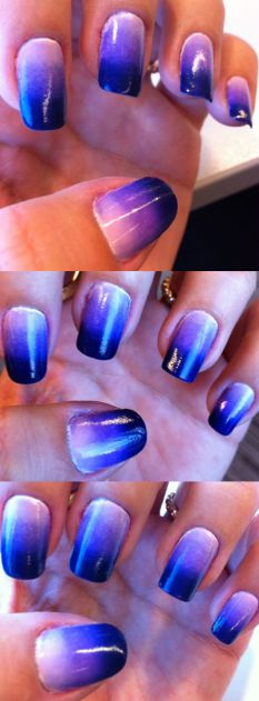 purple nail gradient