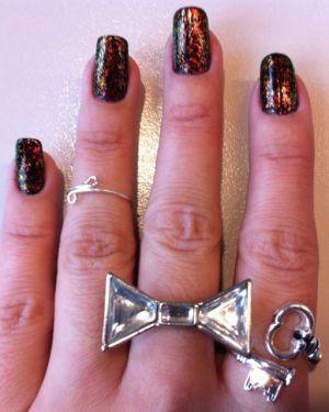 colour shifting glitter flakes nails