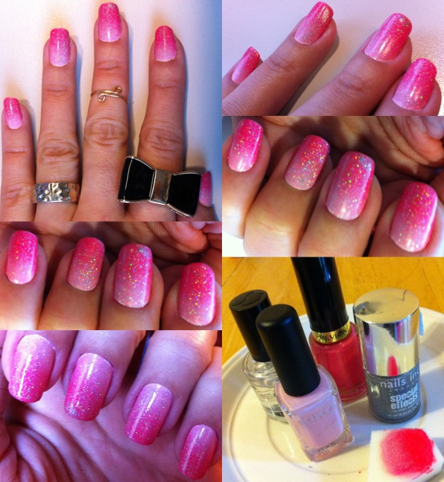 pink gradient nails - somanylovelythings