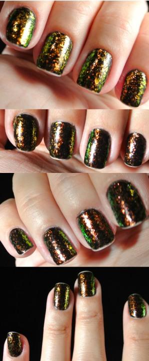 glitter flakes nails - somanylovelythings