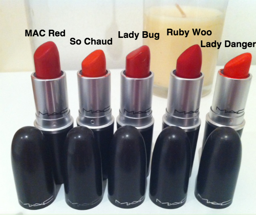 red MAC lipsticks - somanylovelythings