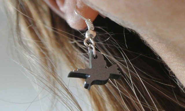 bird earring Cat-a-cake Creations - somanylovelythings
