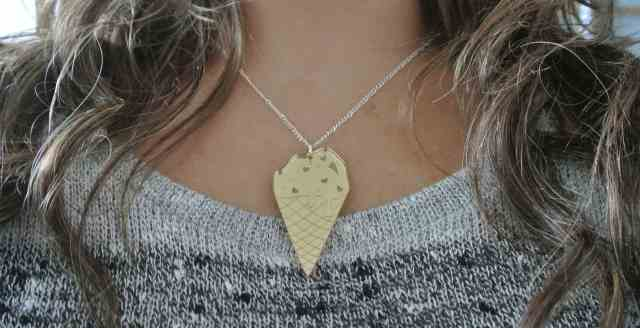 ice-cream necklace Cat-a-cake Creations - somanylovelythings