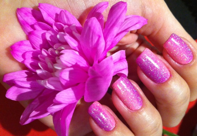 pink and purple gradient nails - sonmaylovelythings