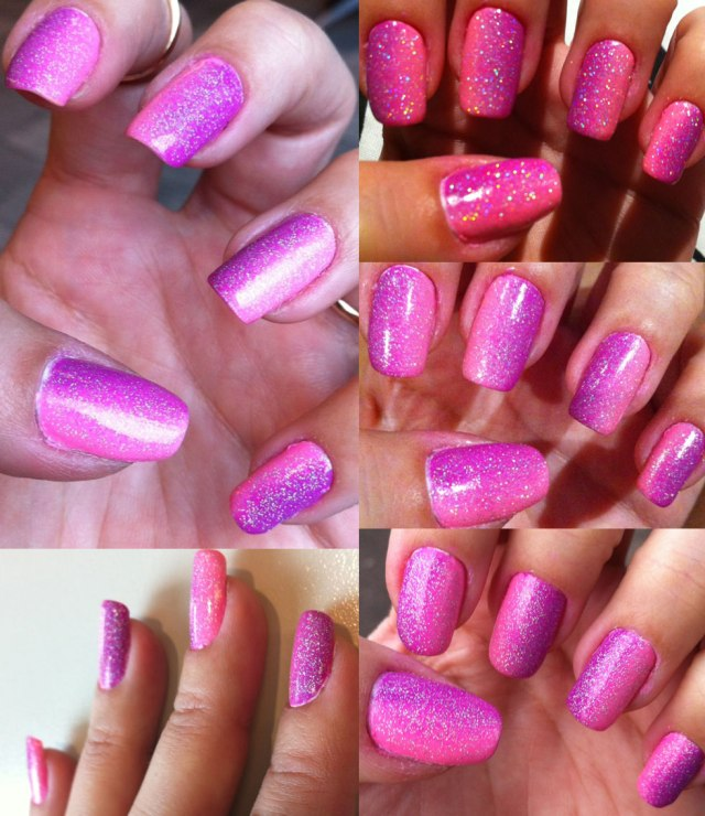 pink purple gradient nails - somanylovelythings