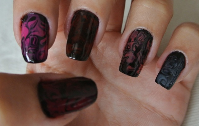 nail marbling - somanylovelythings