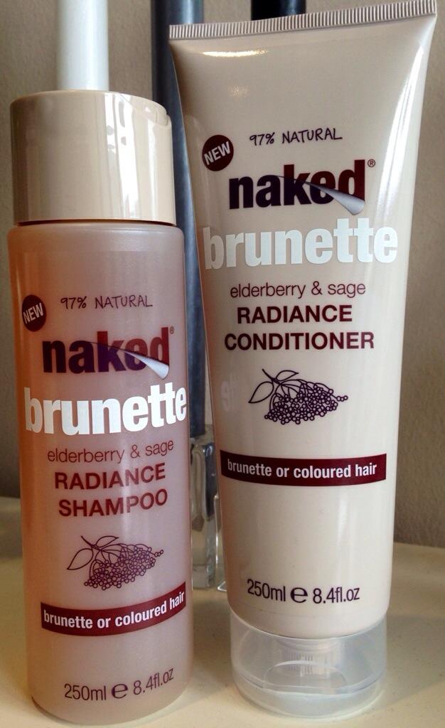 Naked Brunette Radiance shampoo and conditioner