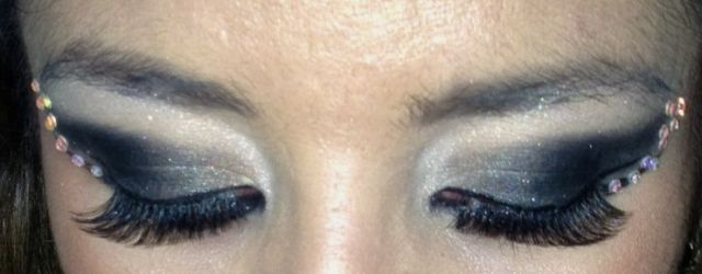 Black smokey eyes with crystals -somanylovelythings