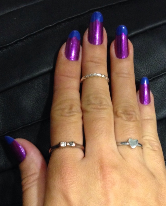purple and blue nails - somanylovelythings