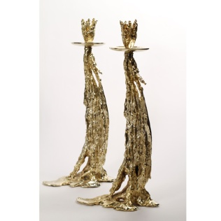 gabriella crespi Gocce Oro candelabra