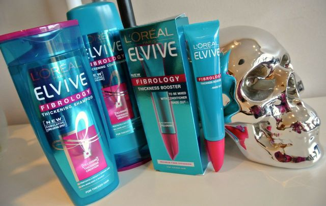 Elvive Fibrology shampoo conditioner booster