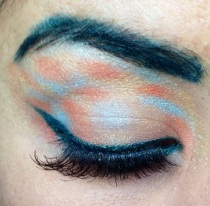 colourful eye makeup look - somanylovelythings