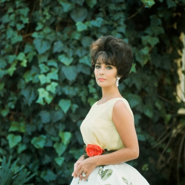 elizabeth taylor in dior  - photo by mark shaw
