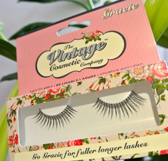 the vintage cosmetic company gracie lashes - somanylovelythings