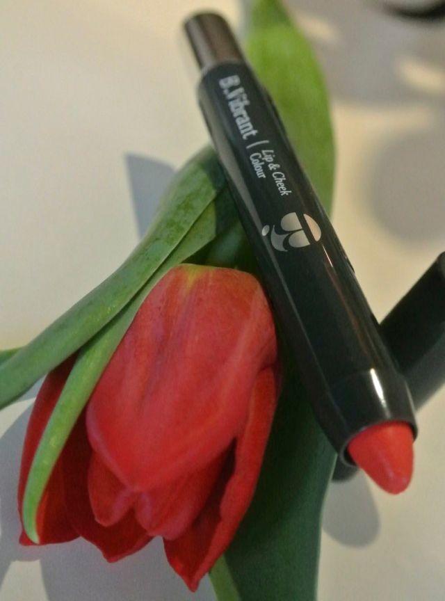 b. vibrant lip and cheek pencil