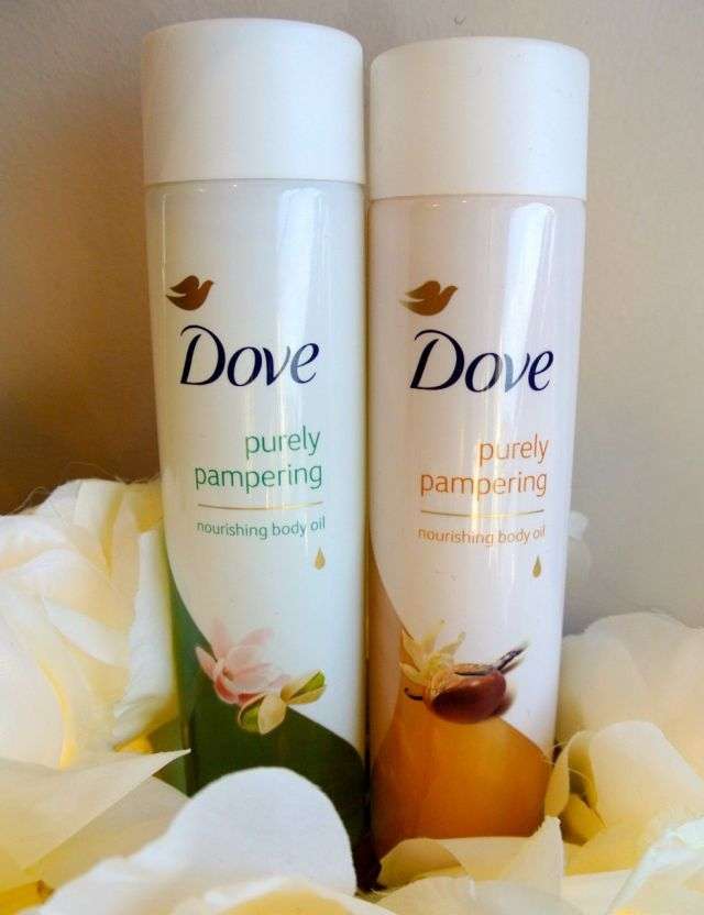 dove pure pampering nourishing body oil