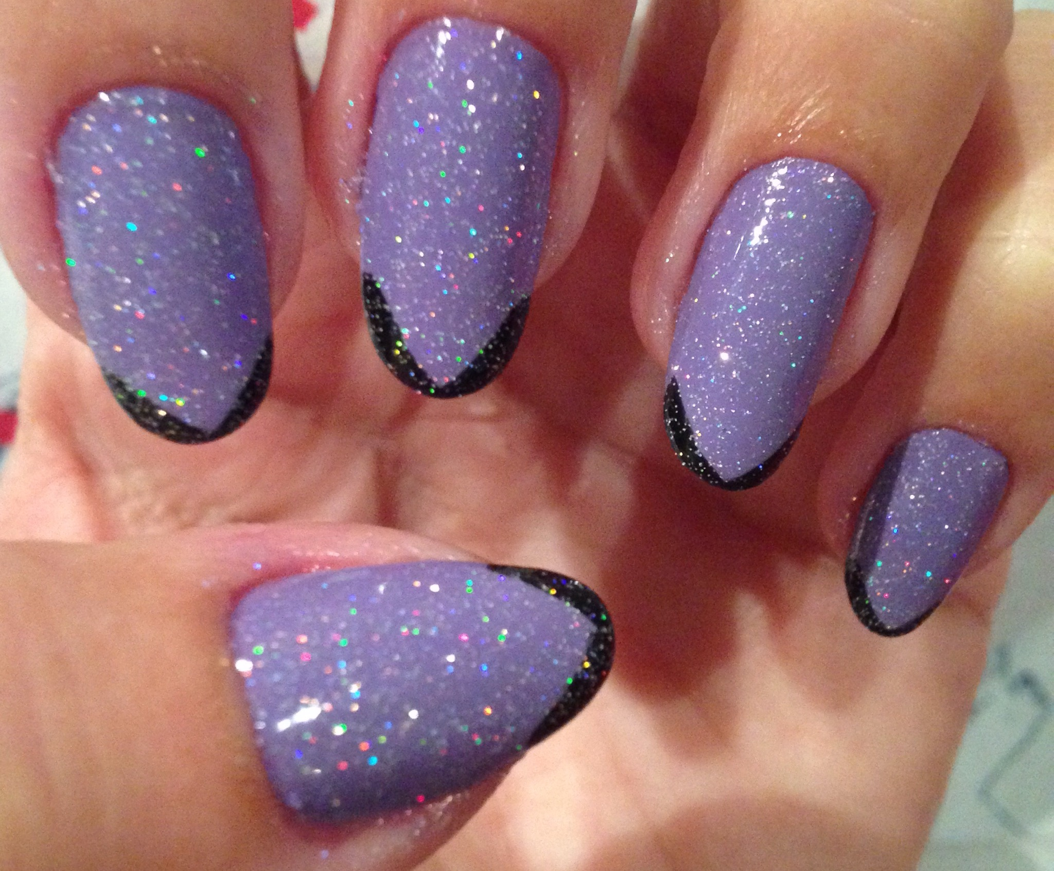 Nails of the week: glittery lilac (Make Up Gallery Parma Violet ...