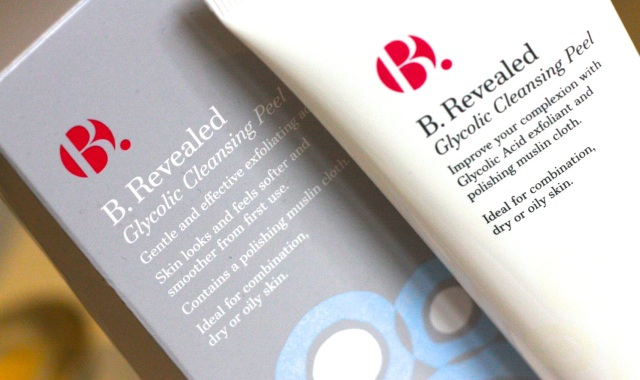 b revelaed glycolic peel cleanser
