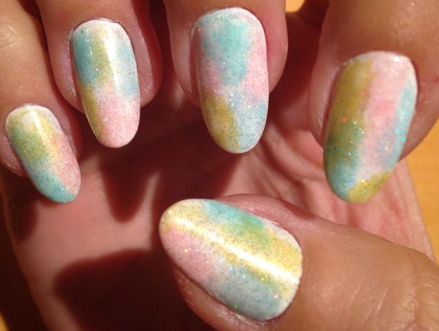 pastel tie-dye nails - somanylovelythings