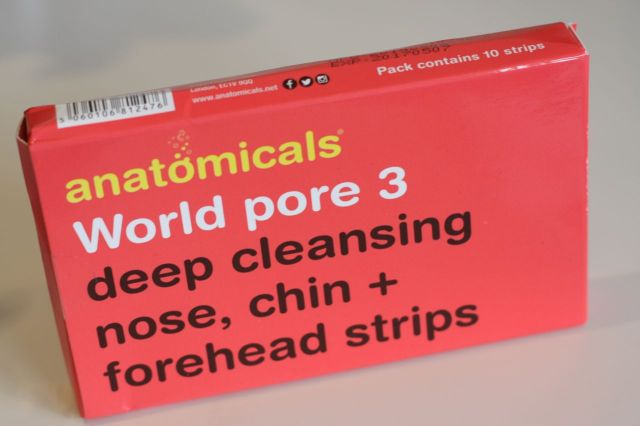 anatomicals world pore 3 deep cleansing nose chin + forehead strips