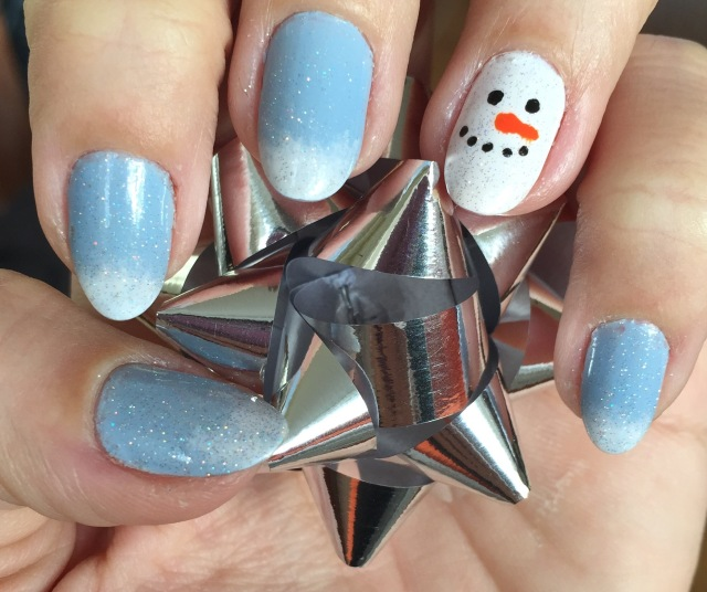 snowman nails somanylovelythings