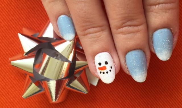 snowman nails somanylovelythings