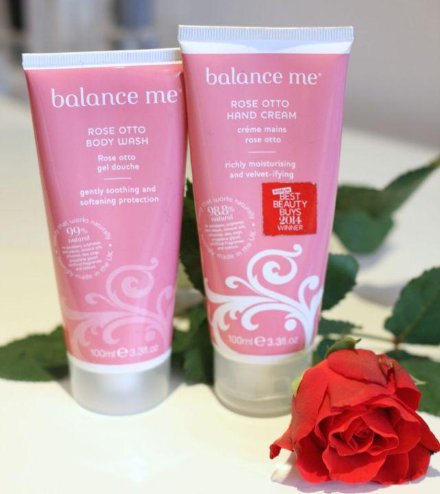 Balance Me Rose Otto Hand Cream and Body Wash