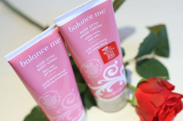 Balance Me Rose Otto Hand Cream and Body Wash
