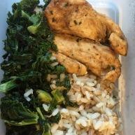 Chicken breast, three grain rice and kale