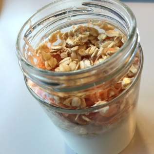 Yoghurt, carrots, oats and honey