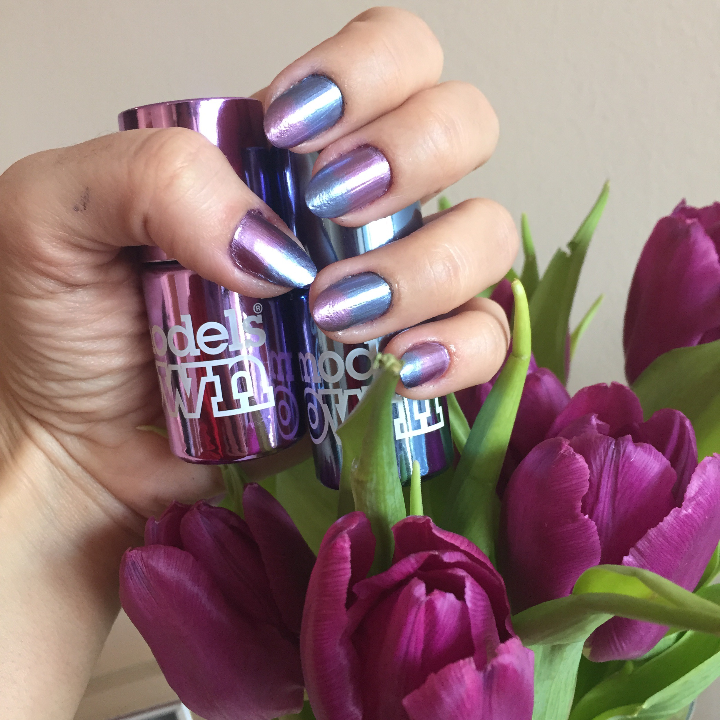 models own chrome nail polish | So Many Lovely Things