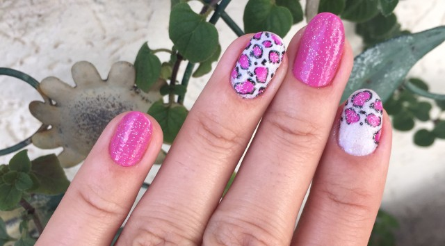 pink leopard print nails - somanylovelythings