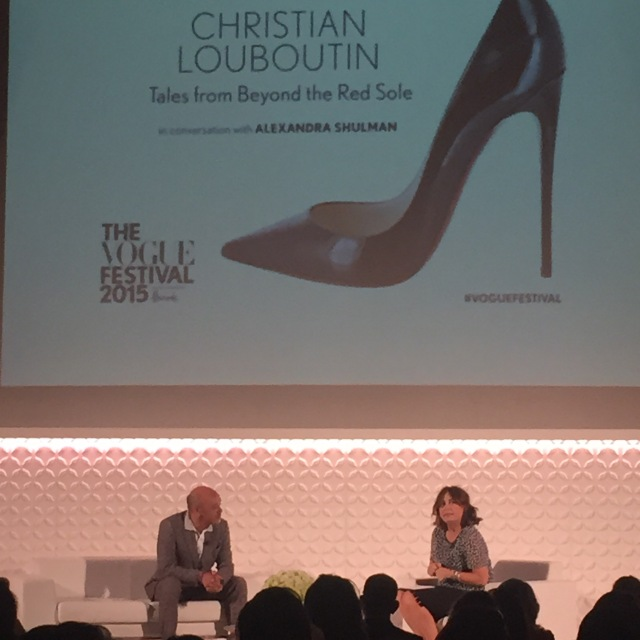 christian louboutin at the Vogue Festival