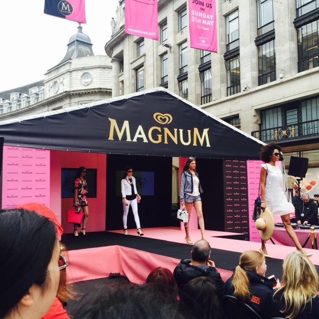magnum pink and black regent street